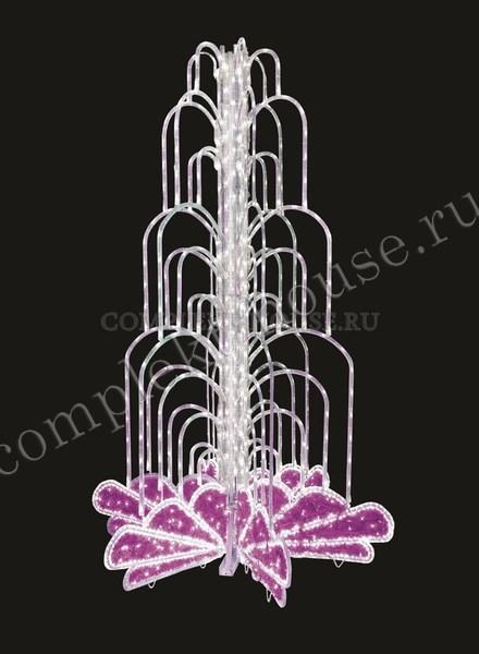 Электрофейерверк Светодиодный фонтан розовый 4м