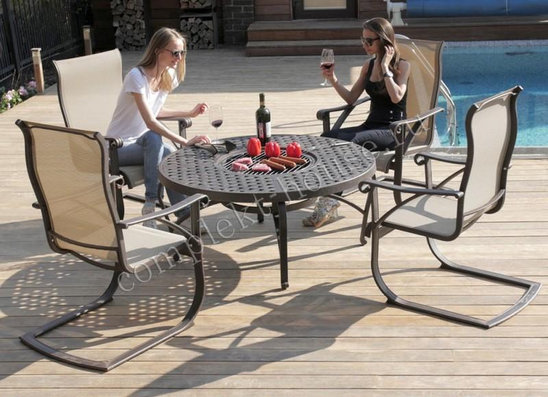 Комплект мебели со столом барбекю Etna