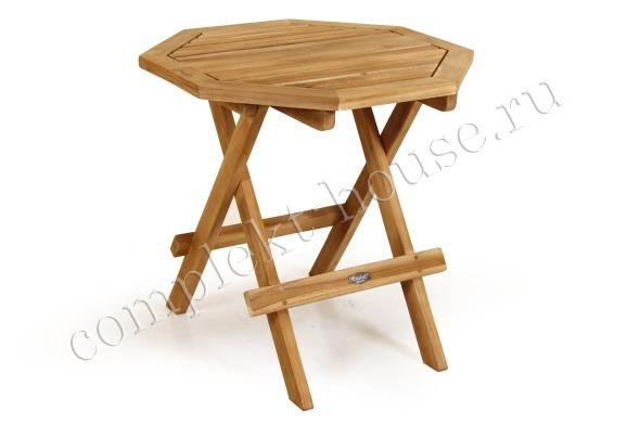 """Siros"".Стол из тика, складной, диаметр 50 см."