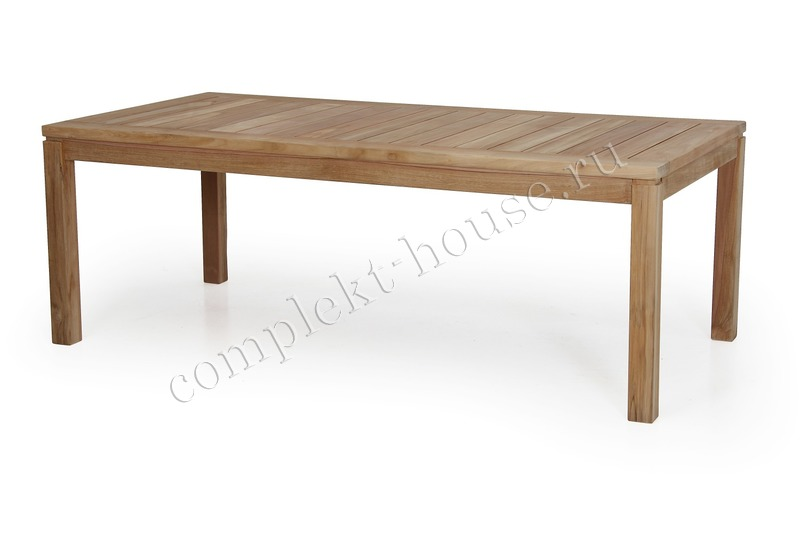 """Leros"". Кофейный столик из тика (140х70х50 см)."