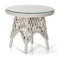 """Beatrice"". Плетеный стол, диаметр 60 см."