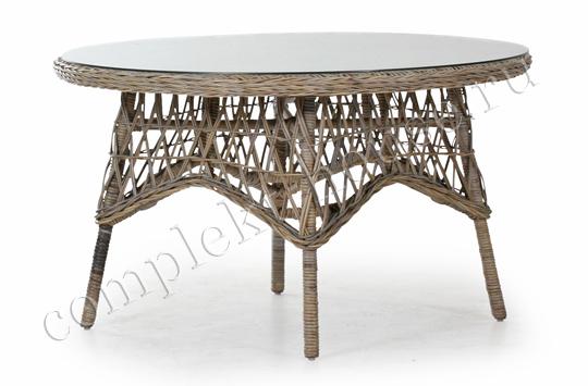 """""""Erica"""".Стол из натурального ротанга, цвет натуральный, диаметр 130 см."""
