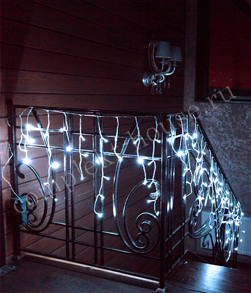 Бахрома светодиодная с мерцанием 3,2х0,9 м каучук