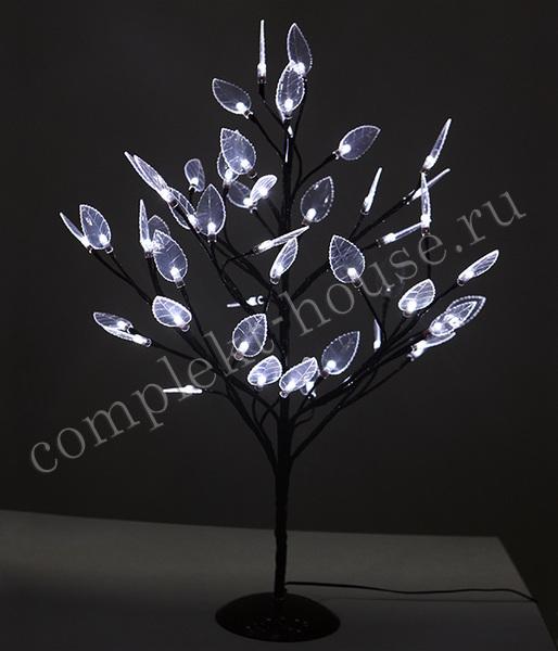 Дерево светодиодное с листьями 60 см 48 LED