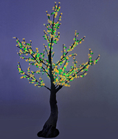 """""""Сакура"""" с листьями, 2,5м (960 LED)."""