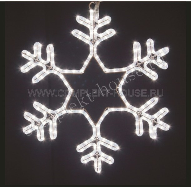 Снежинка Мерцающая 55х55см
