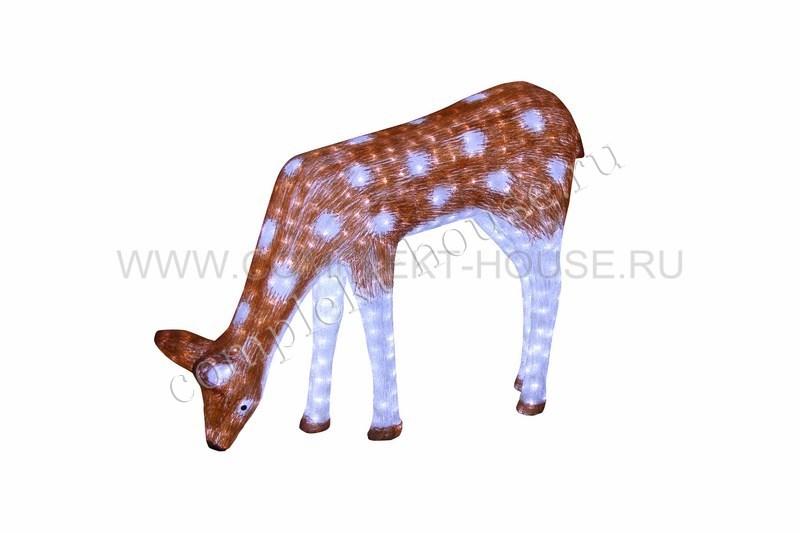 Акриловая светодиодная фигура 3D Олень мама-коричневая