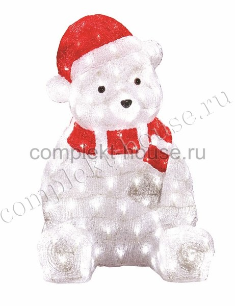 Светодиодная фигура Медвежонок в красном колпаке 56 см 200 LED