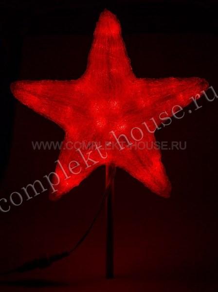 Акриловая светодиодная фигура 30см Звезда