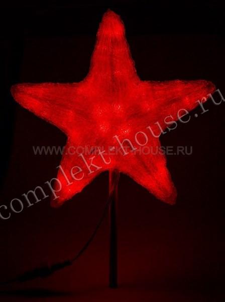 Акриловая светодиодная фигура Звезда 80см