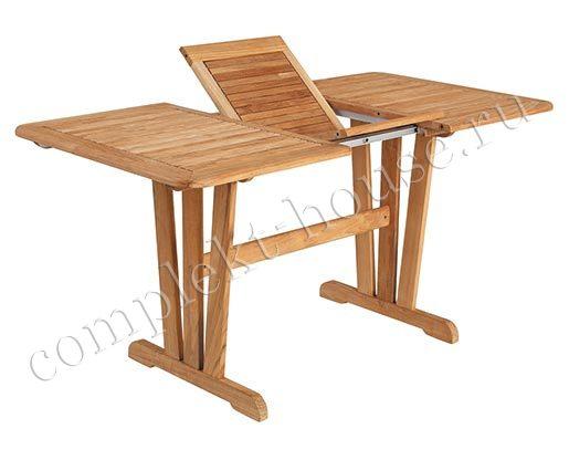 """""""Cornelia"""".Стол из тика, раскладной, размер 110/150x80 см."""