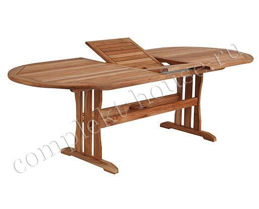 """Melbourne"". Стол из тика, раскладной, 190/240х100 см."