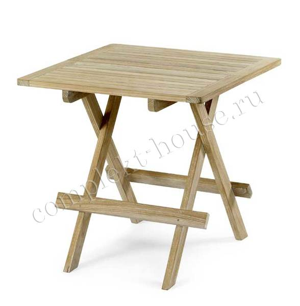 """Opal"". Стол из тика, приставной, размер 50x50 см."