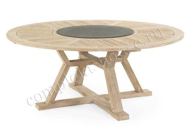 """""""Circus"""".Тиковый стол, диаметр 180 см."""