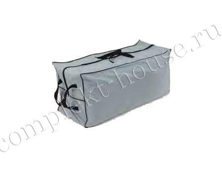 Чехол для хранения подушек, полиэстер серого цвета, размер 127x46x55 см.