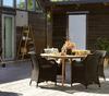 """Rodena"". Тиковый стол (Диаметр 140х74,5 см)."