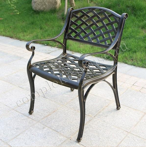"""""""Belgravia Lux"""". Кресло обеденное из литого алюминия"""