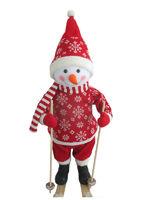 """""""Снеговик на лыжах"""". Новогодняя фигура, 66 см."""