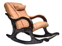 """""""WAVE EGO"""". Массажное кресло-качалка в комплектации LUX (цвет Орех)."""