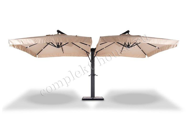 Зонт 2-х купольный Rym (3х6 м).